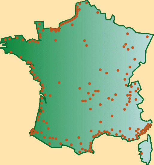 carte des casinos en france Casinos en France.  Carte des casinos de France, Belgique